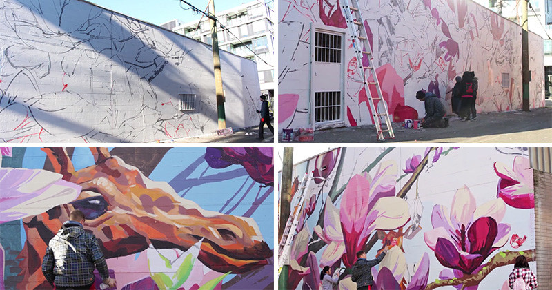 See how this large mural in vancouver got painted for Mural vancouver