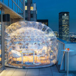 There's an outdoor bar in a bubble on the rooftop of this New York hotel, so drinkers can stay warm in winter