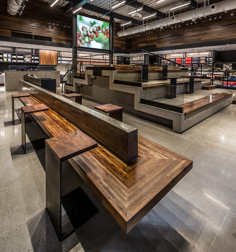 Starbucks just opened a new location with stadium style seating