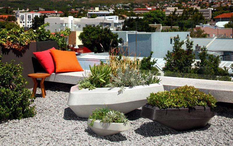 The design of these planters was inspired by jutting granite boulders found along the Cape Town coast in South Africa