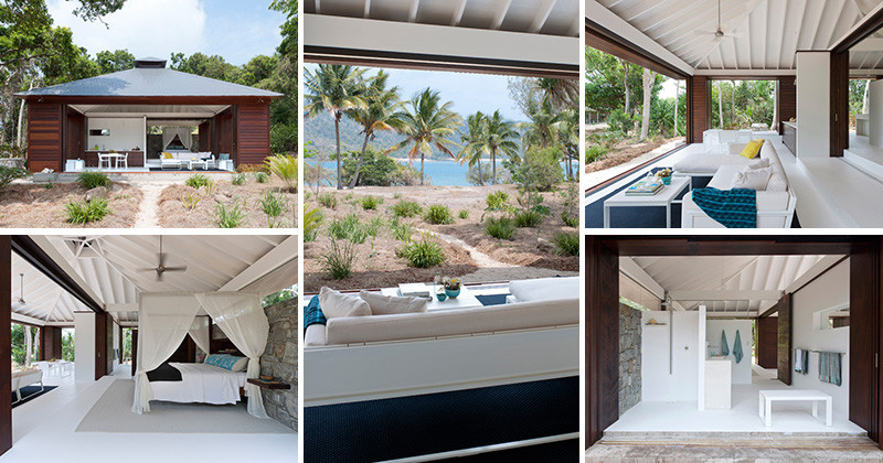 This small beach house is designed for true indoor outdoor Small beach homes