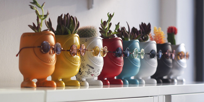 These little monster planters have a bit of an attitude