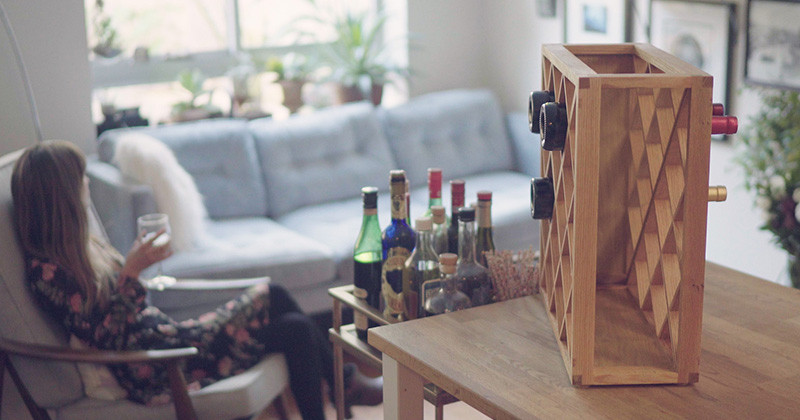 An Illusionist Has Created A Puzzling Wine Rack