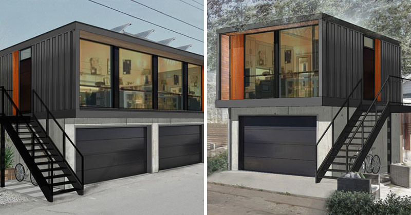 Container Garage it s getting easier to fulfill your dreams of living in a shipping