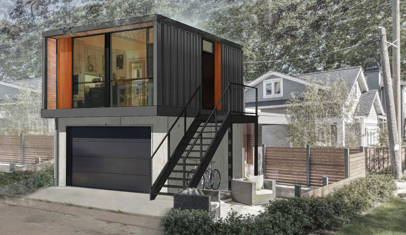 Container Studio With A Garage | 17 Cool Container Homes To Inspire Your Own