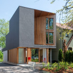 A new home for a young family on a tree-lined street in Toronto