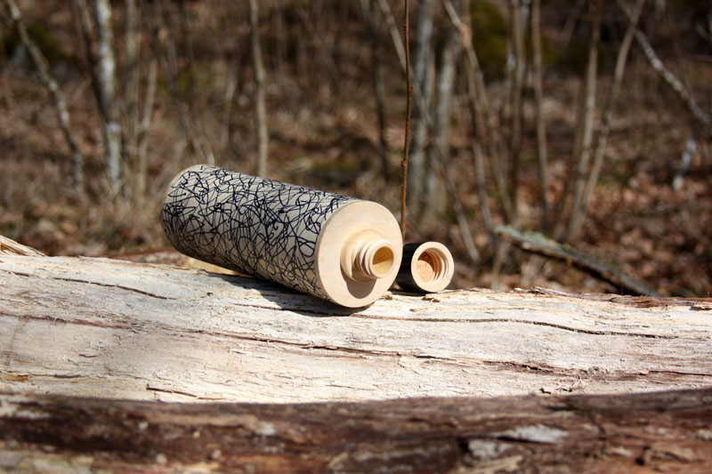 This Water Bottle Is Made From Wood Instead Of Plastic