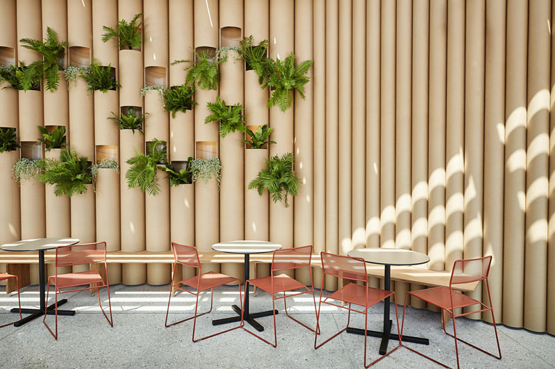 Cardboard Tubes Are The Material Choice For This Pop Up In Sydney