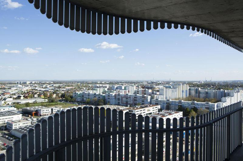 Citygate Tower in Vienna, Austria, designed by Querkraft Architekten.