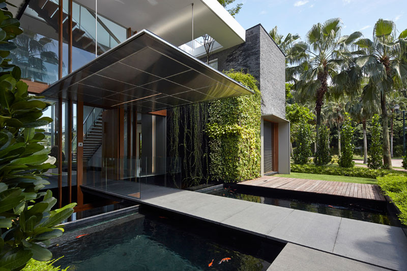No.2, a house located in Singapore, and designed by Greg Shand Architects.