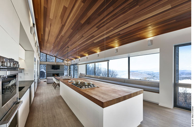 Laurentian Ski Chalet in Lac Archambault, Quebec, designed by robitaille.curtis