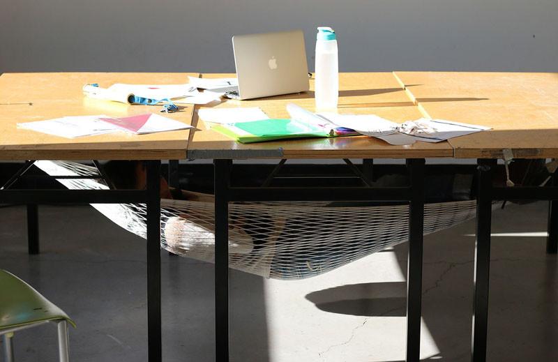 Schnap Table Hammock by Aqil Raharjo