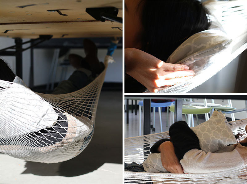 Schnap Table Hammock by Aqil Raharjo