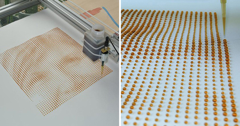 This Printer Can Create Portraits With Drops Of Liquid