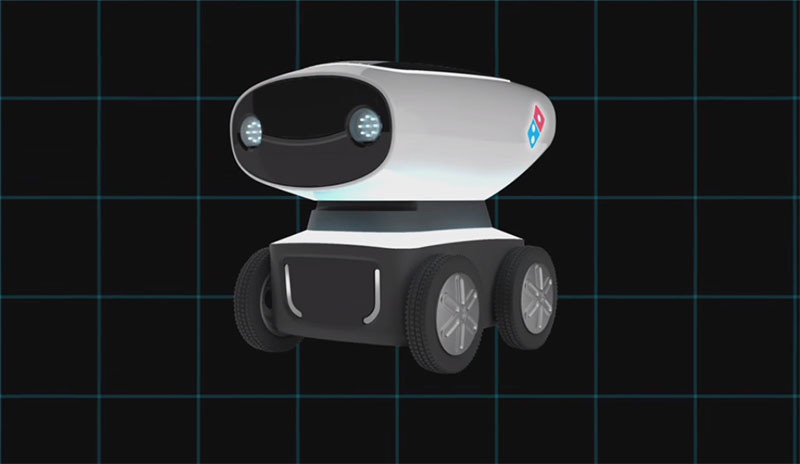 DRU, Domino's pizza delivery robot.