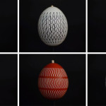 Watch what happens when stroboscopic patterns are put onto spinning eggs