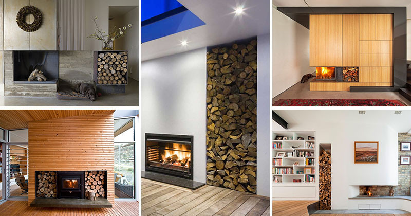 14 inspirational ideas for storing firewood in your home - Rangement interieur bois de chauffage ...