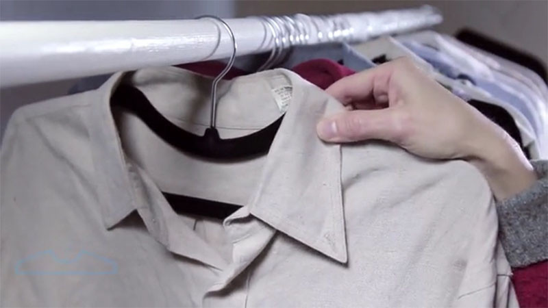 The design of these hangers is solving a problem we didn't know existed