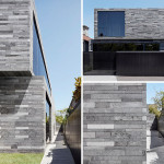 This new home is covered in lava stone inside and out