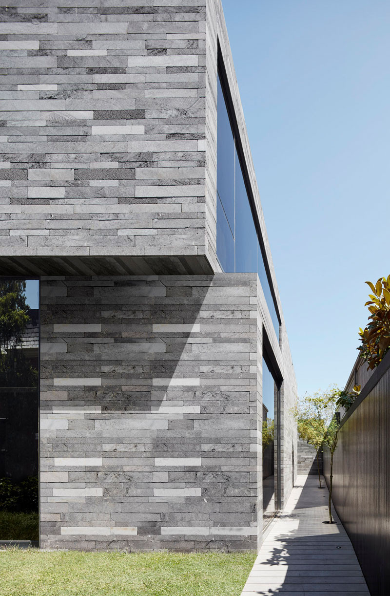 Design Detail - Lava Stone Is Used To Create A Natural Look For This Home