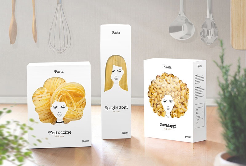 Pasta Packaging Concept by Nikita Konkin