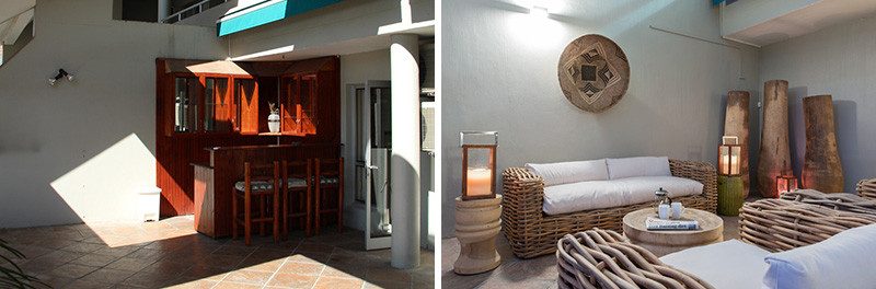 Before & After - A Townhouse Patio Got Revamped With A Beachy Vibe