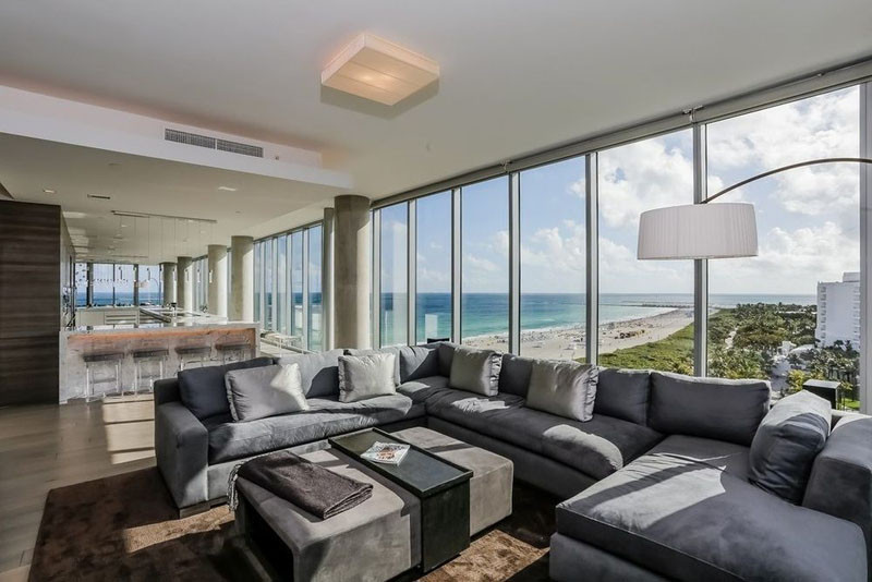 Take a quick look around this two-story luxurious penthouse in Miami