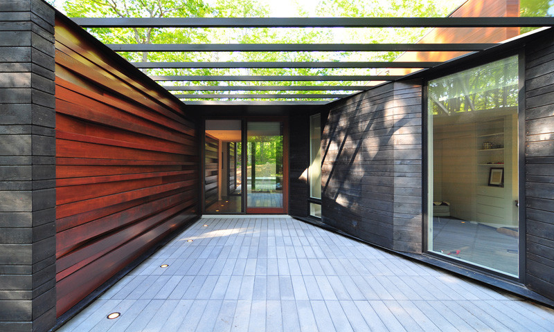 The Pleated House in Wisconsin, USA, designed by Johnsen Schmaling Architects