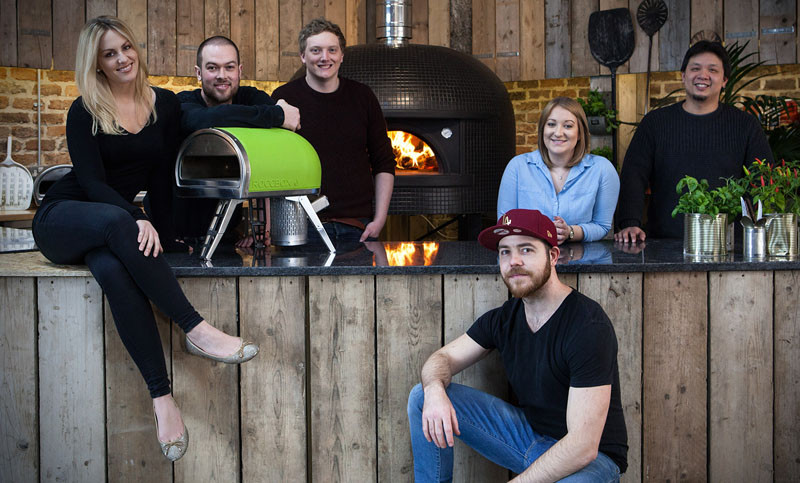 The Roccbox, a portable stone bake pizza oven.
