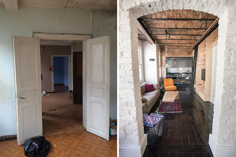 Before After An Apartment Makeover Inside An Old Building