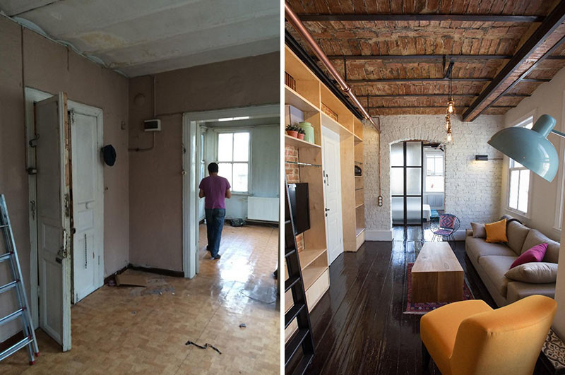 Before Amp After An Apartment Makeover Inside An Old Building