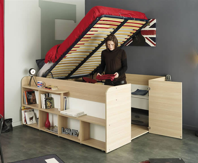 Desk Built Into Closet these bed/closet combinations are a good design option for small