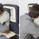 This new travel pillow design was inspired by massage chairs