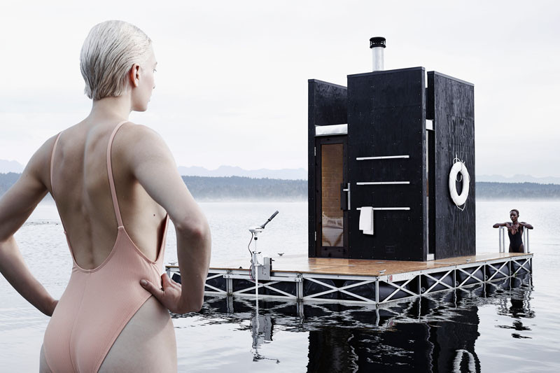 This Sauna Floats On A Seattle Lake