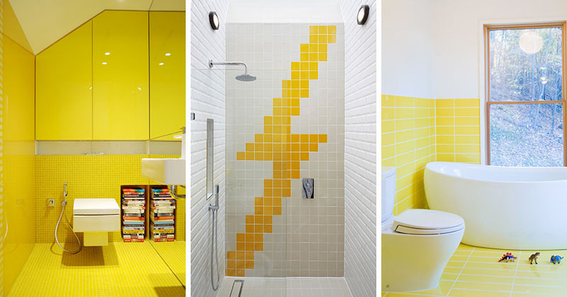 10 Examples Of How To Include Yellow In Your Bathroom