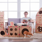 This modular cat house lets you get creative with the design