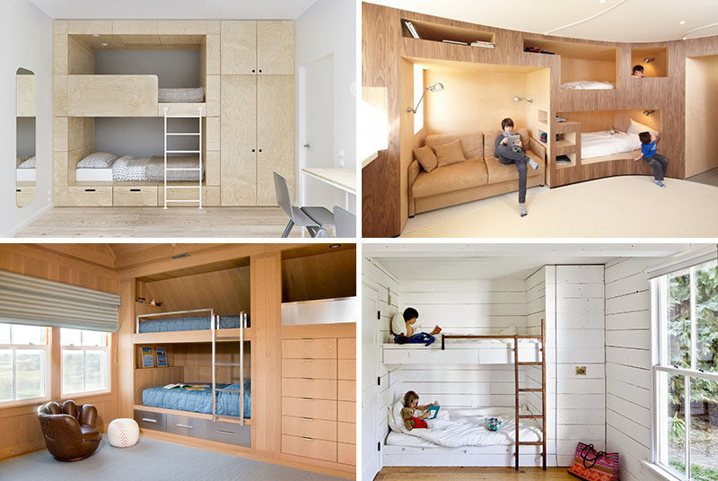 Marvelous Built In Bunk Beds Part - 9: 12 Examples Of Bedrooms With Built-in Bunk Beds.