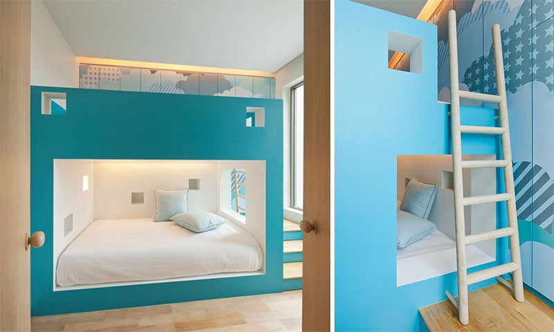 12 Inspirational Examples Built In Bunk Beds
