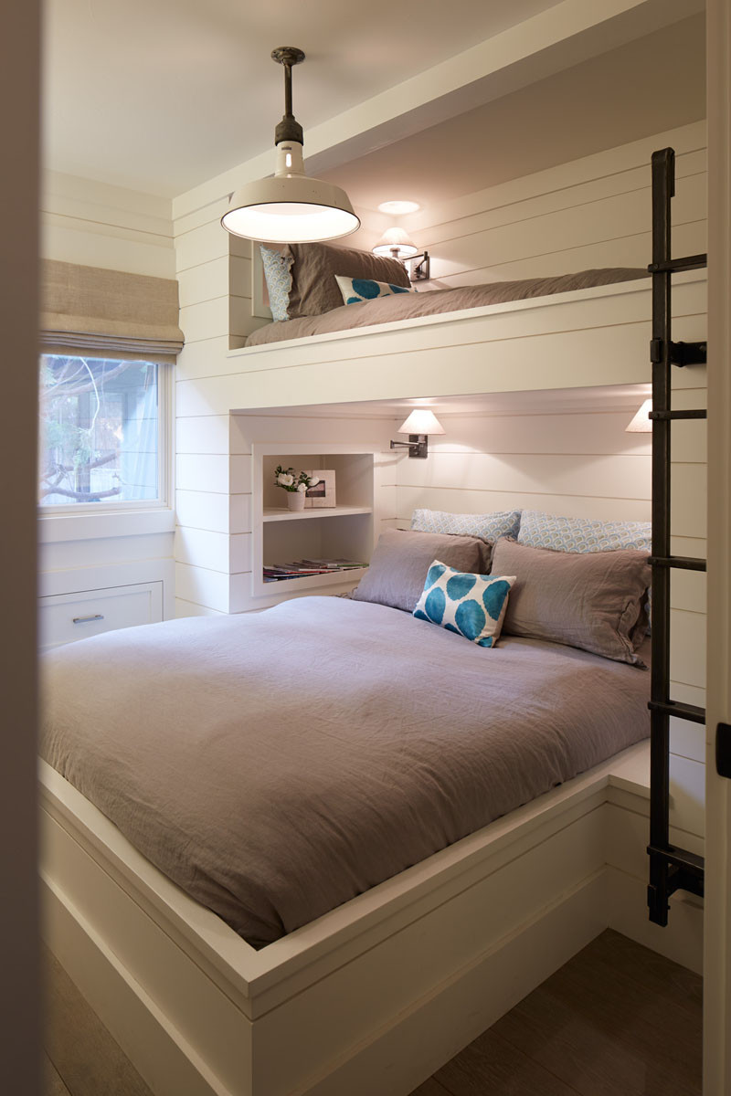 12 inspirational examples of built in bunk beds contemporist for Bunk bed bedroom designs