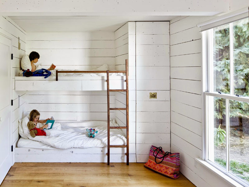 Good  examples of bedrooms with built in bunk beds