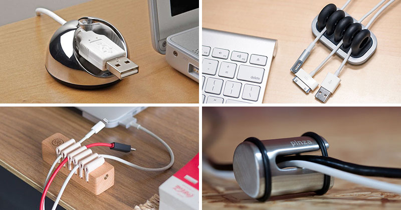 11 Creative Cable Holders That Stop The Cables Falling Off