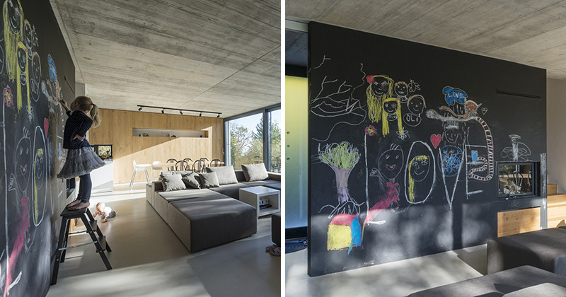 A chalkboard wall is a great idea to stop kids drawing on the walls