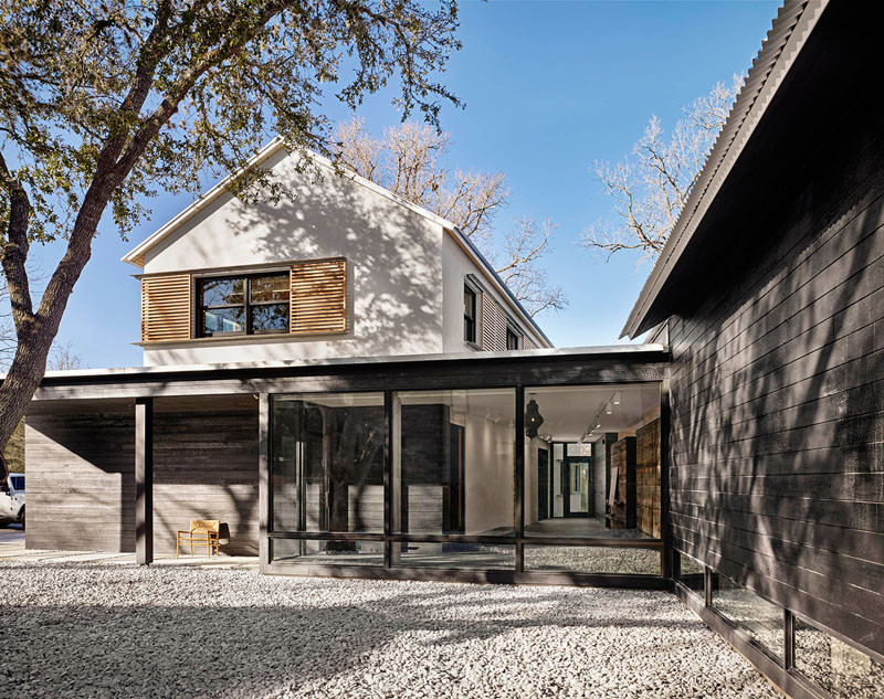 This home in texas has a contemporary farmhouse feel to it for Modern farmhouse architecture