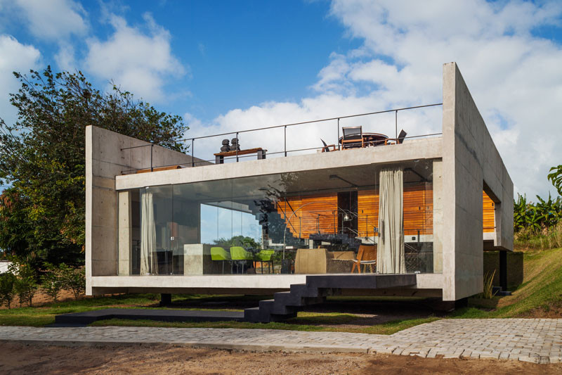 Two Beams House, located in Tibau do Sul, Brazil, and designed by Yuri Vital