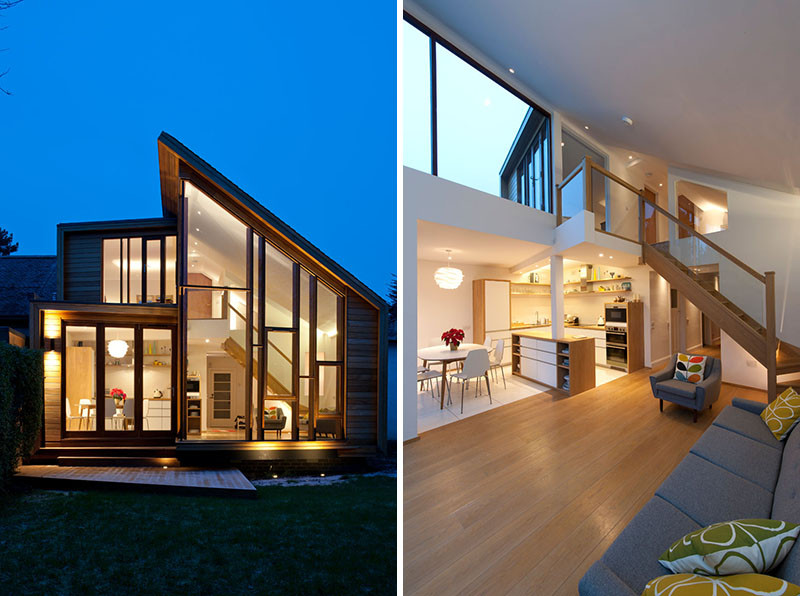 A Scandinavian inspired house extension was given to this family home in Scotland