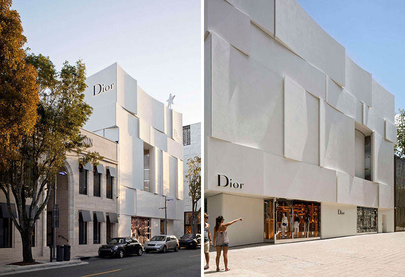 Dior Miami Facade, designed by Barbarito Bancel Architects
