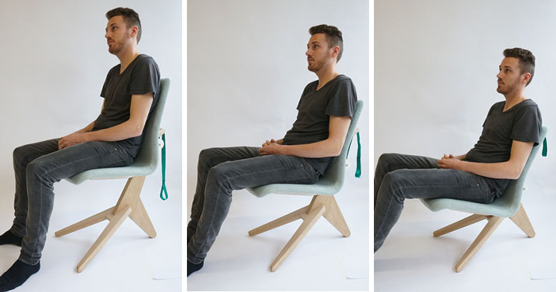 The simplicity of this height adjustable chair is surprising