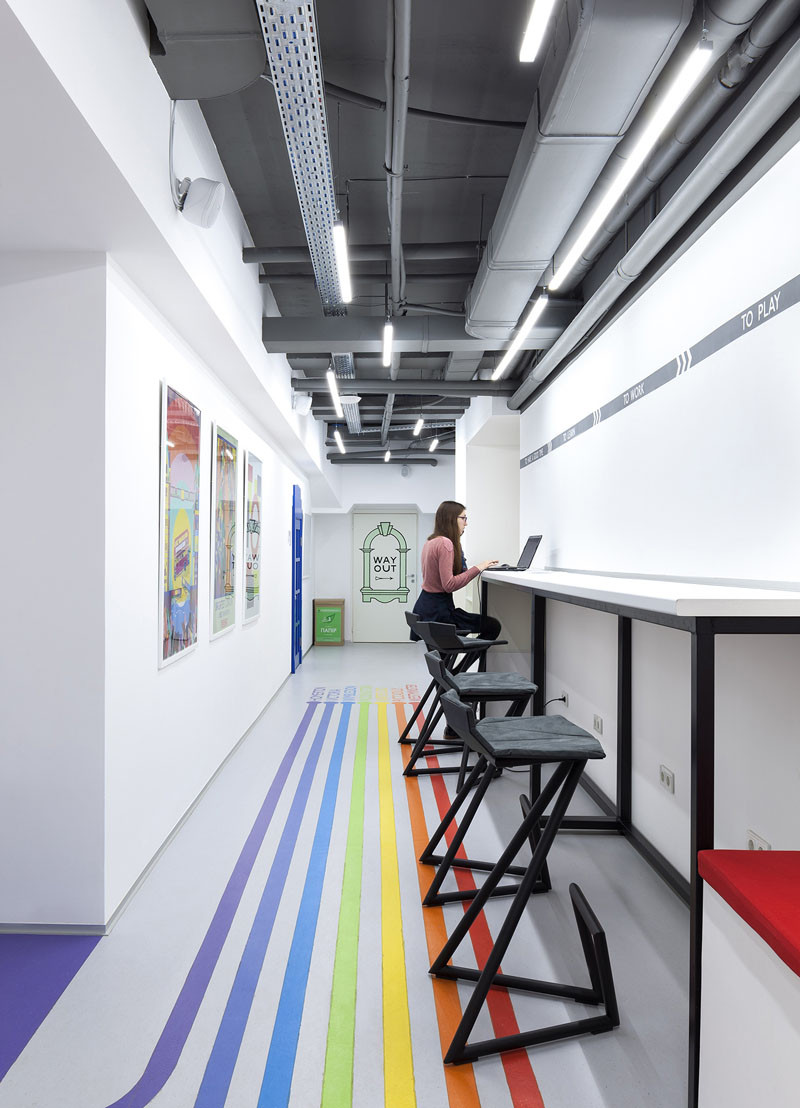 Colourful Lines Inspired By The London Underground Lead You To Classrooms At This Language School