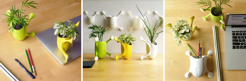 Livi, a cute little planter that sticks to most surfaces