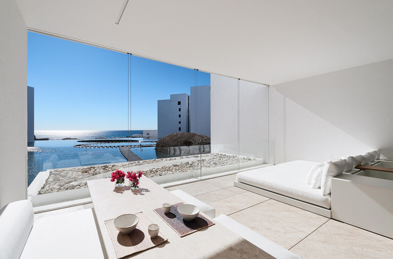 15 pictures of the most white minimalist hotel you will for Minimalist hotel design